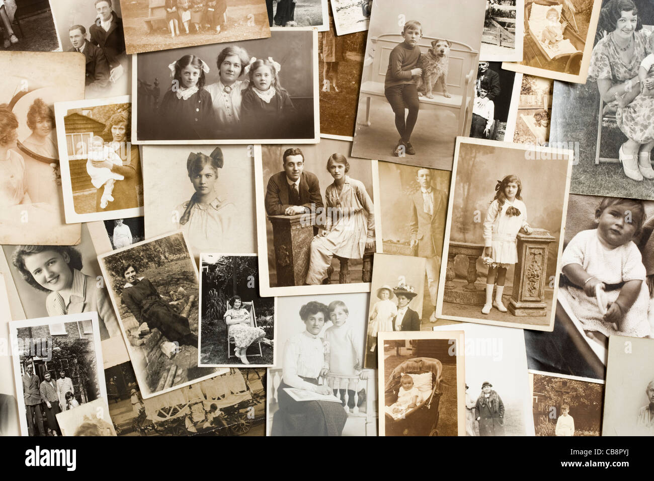 Old photographs. - Stock Image