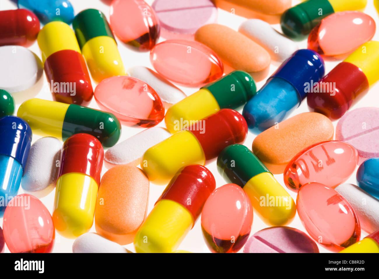 Pills. - Stock Image