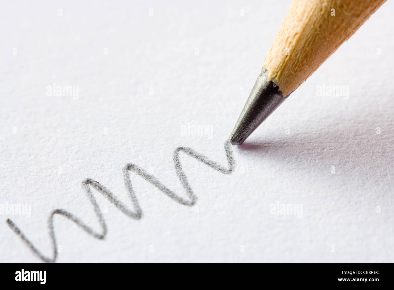 Pencil close up. - Stock Image