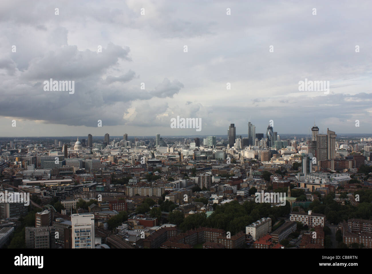 Square Mile from the top of Strata SE1 - Stock Image
