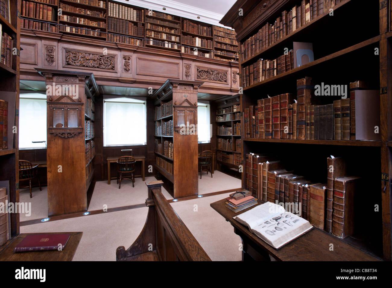 jesus College Library, Oxford, UK - Stock Image
