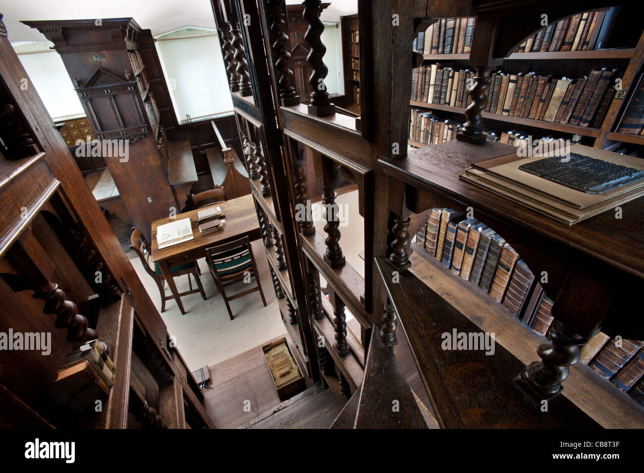 Jesus College Library, Oxford, UK Stock Photo