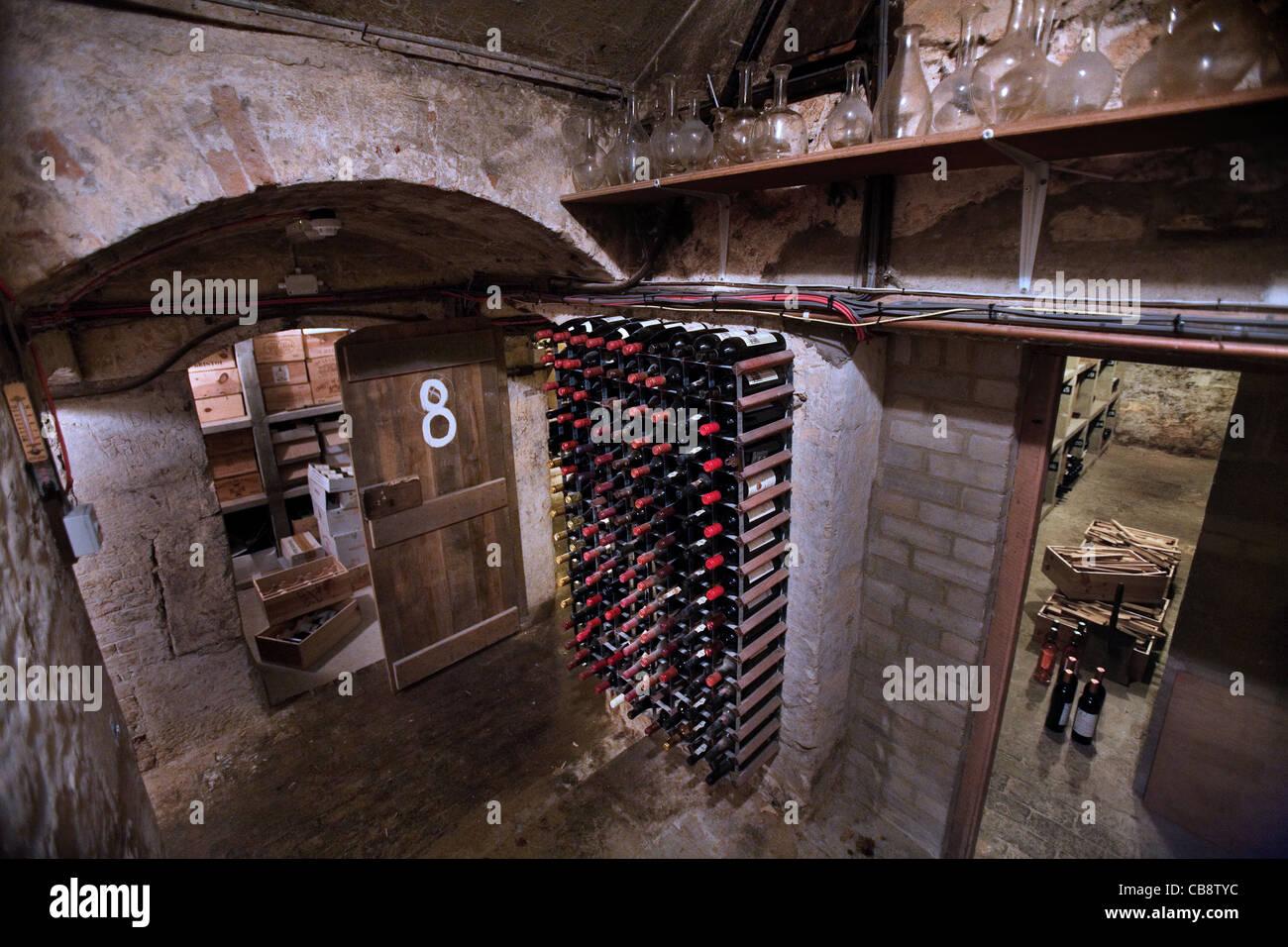 Wine Cellar in the Jesus College, Oxford - Stock Image