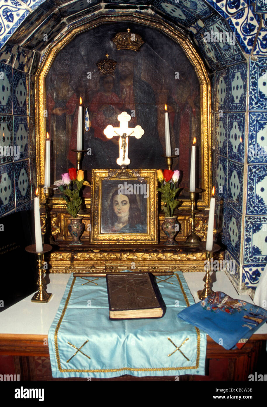 A small chapel within St James Armenian Church in Jerusalem - Stock Image