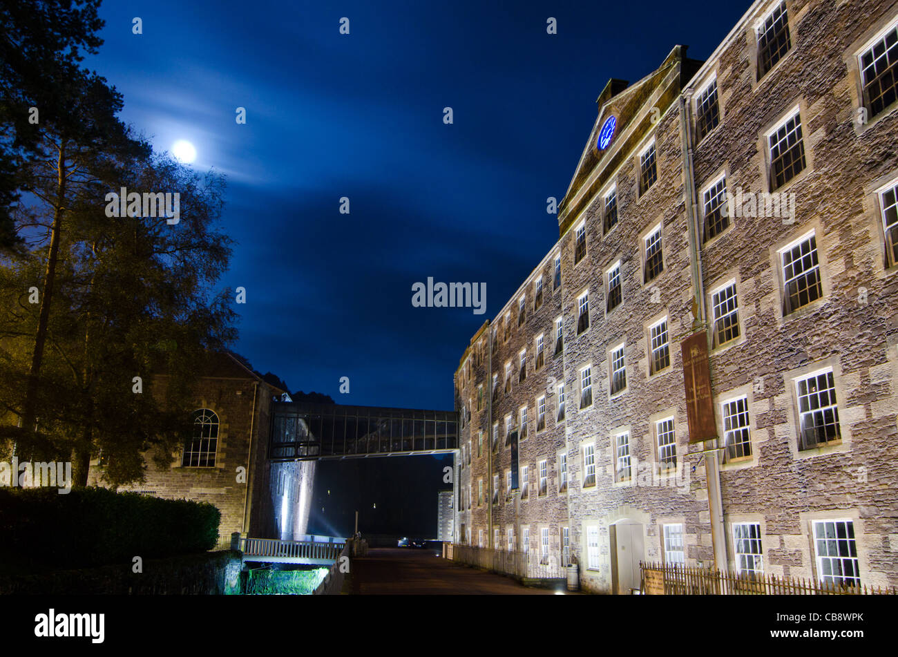 Cotton mills at New Lanark, Scotland. Founded by David Dale in 1786. - Stock Image