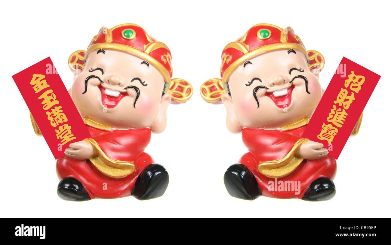 God of Prosperity Figurines - Stock Image