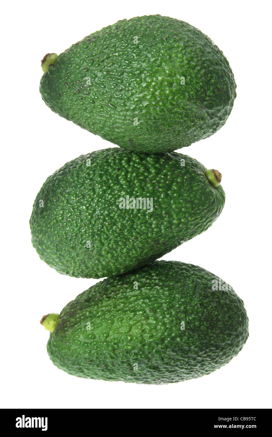 Stack of Avocados - Stock Image