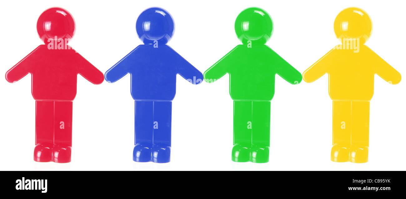 Plastic Figures - Stock Image