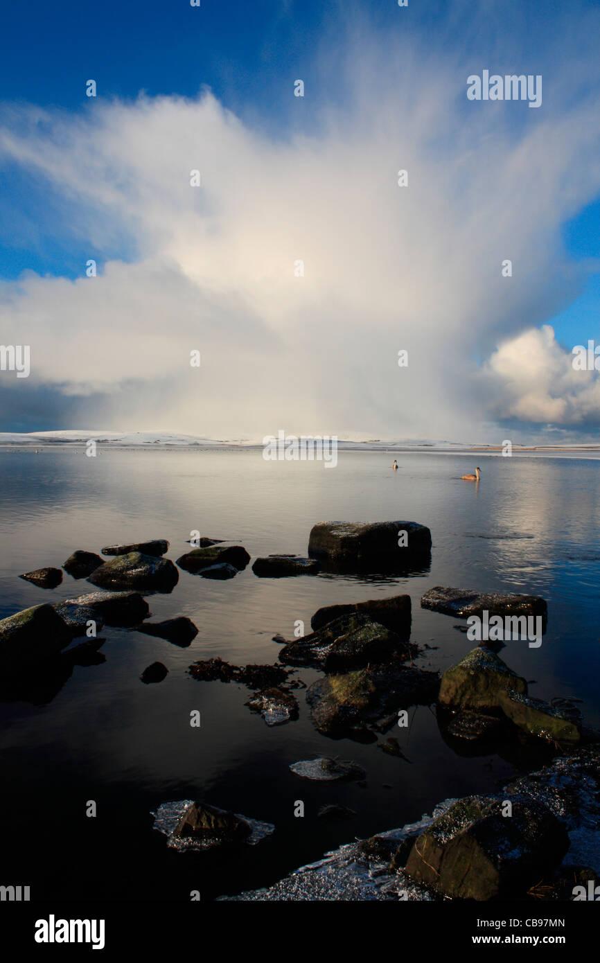 Cumulonimbus cloud over Orkney - Stock Image