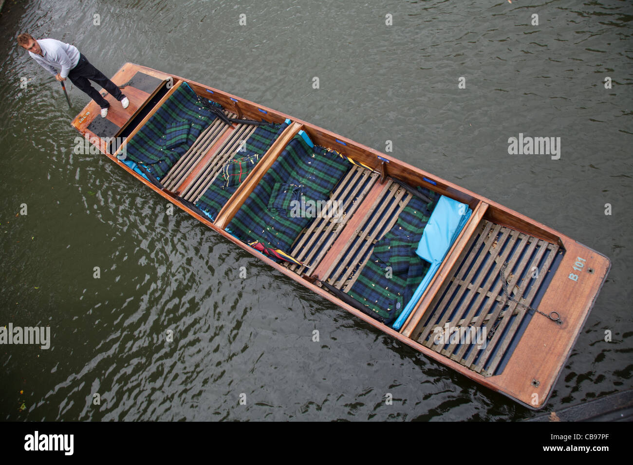 Punting in Cambridge, UK - Stock Image