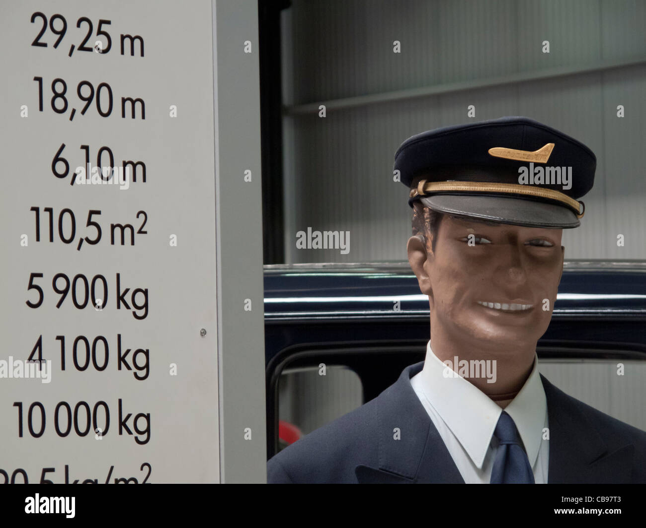 Dummy representing a commercial flight commander, Germany - Stock Image