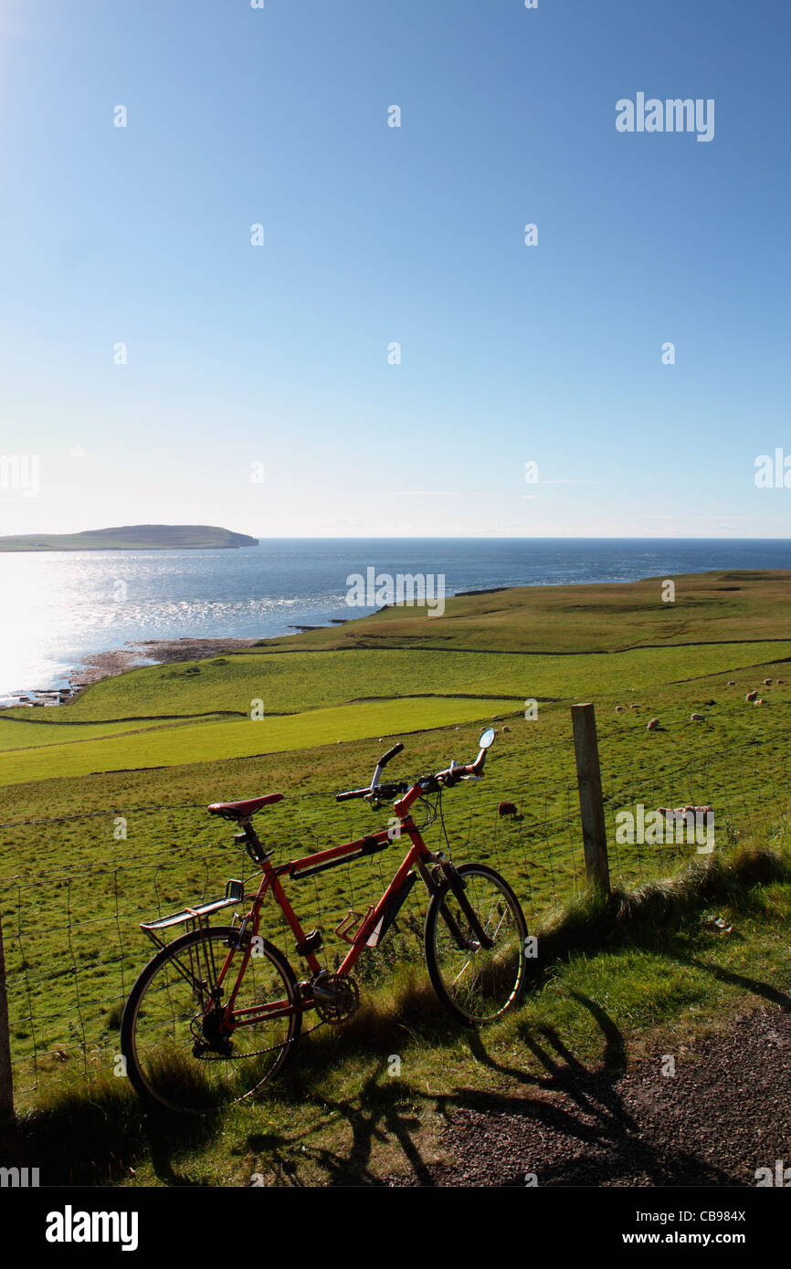 Orkney Islands, cycling on Rousay - Stock Image