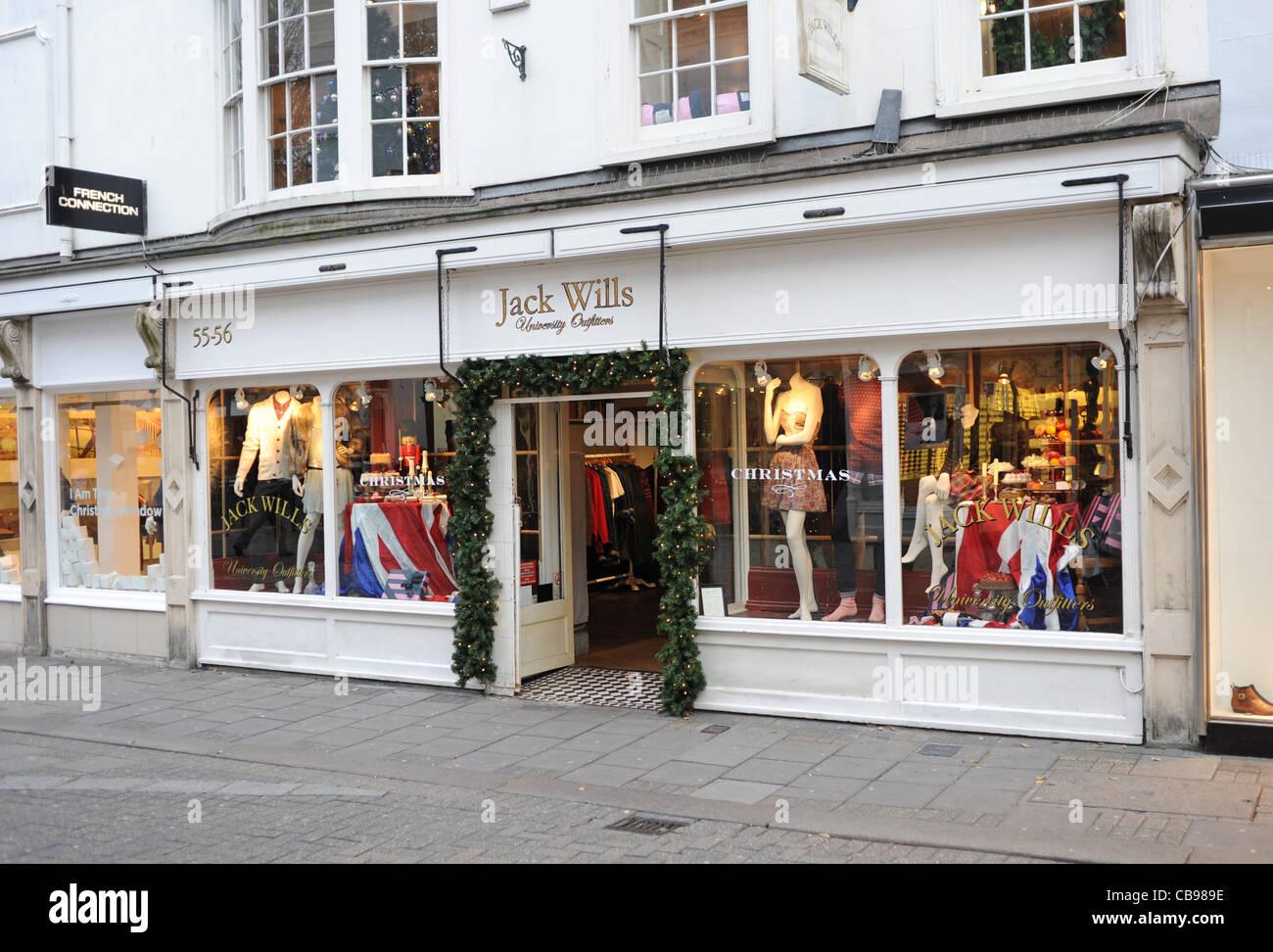 Jack Wills Fashion clothing store East Street Brighton UK Photograph taken December 2011 - Stock Image
