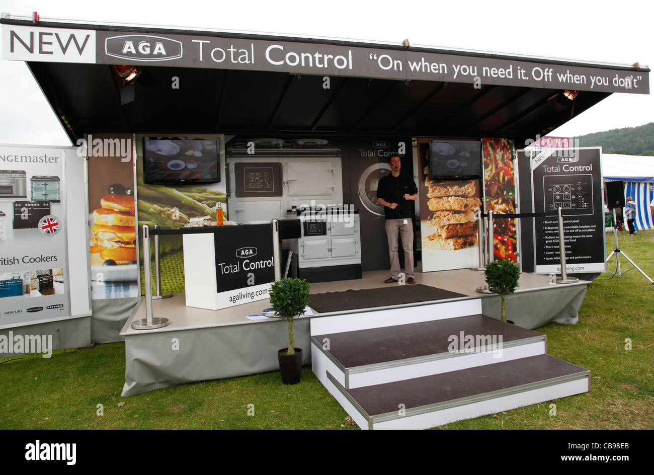 Trade Stands Chatsworth Country Fair : Business trade show stock photos