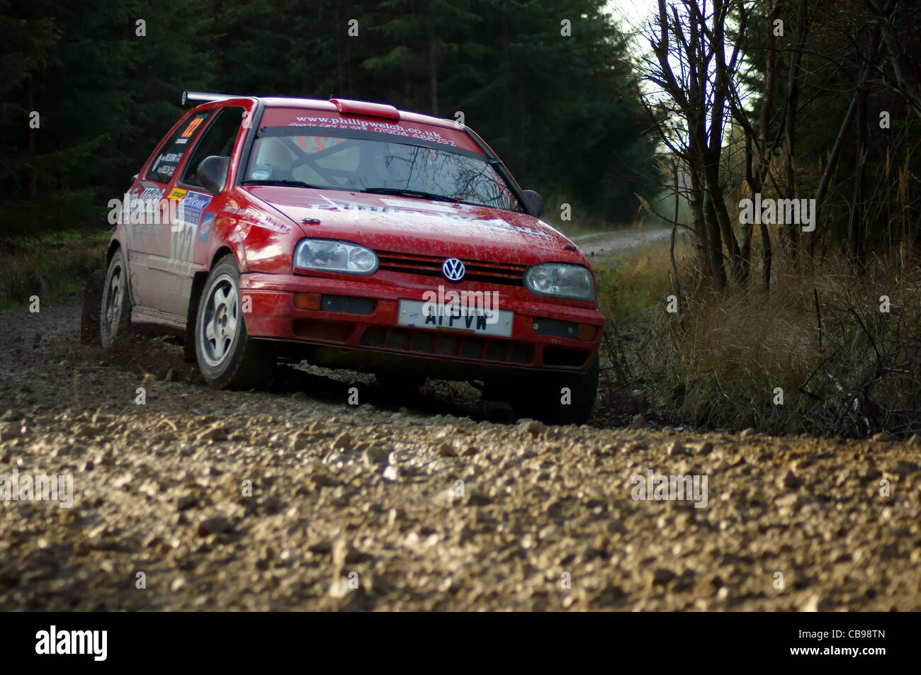 VW Golf Kit Rally Car - Stock Image