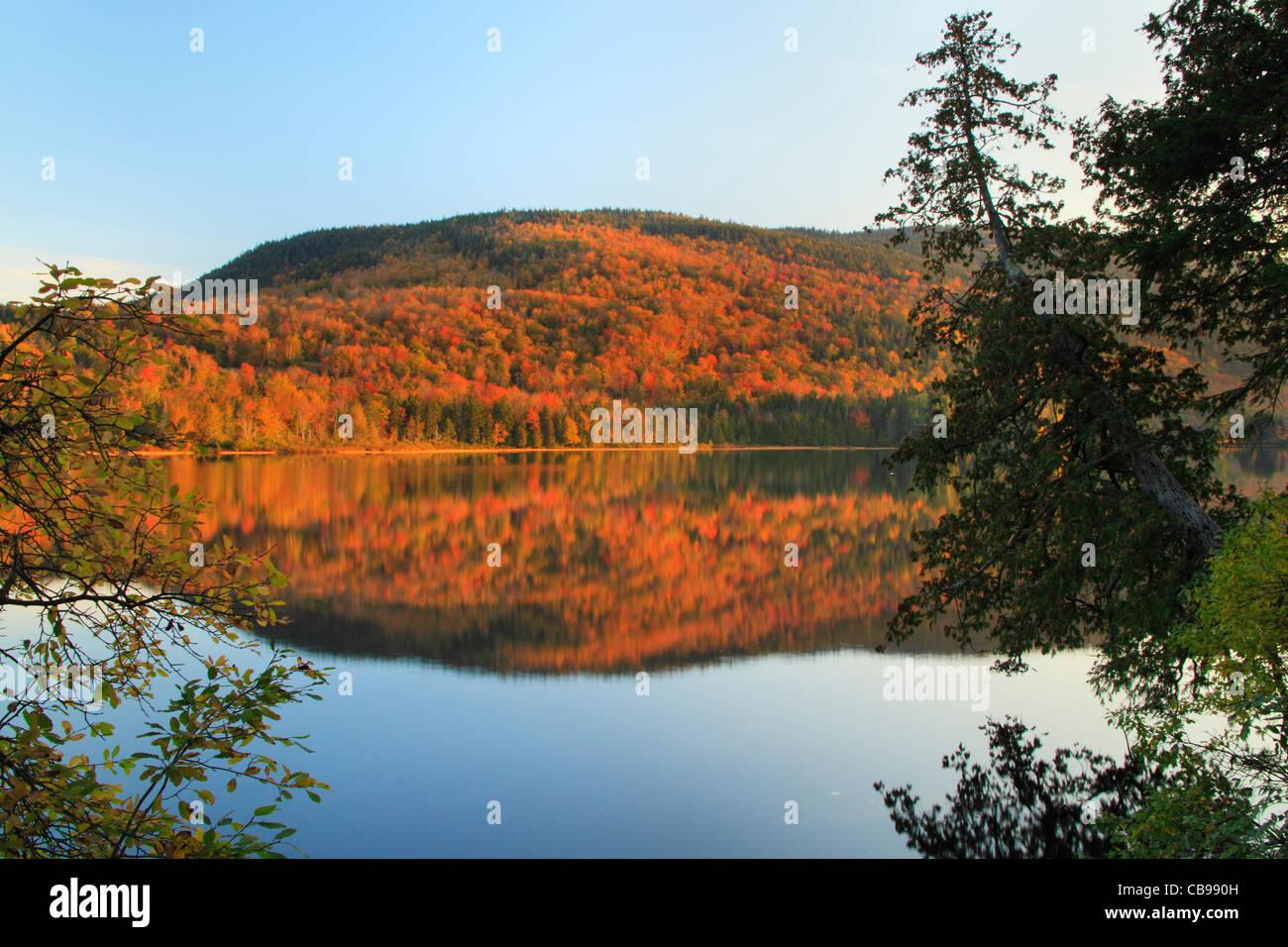 Sandy River Ponds Near Appalachian Trail, Rangeley, Maine, USA - Stock Image