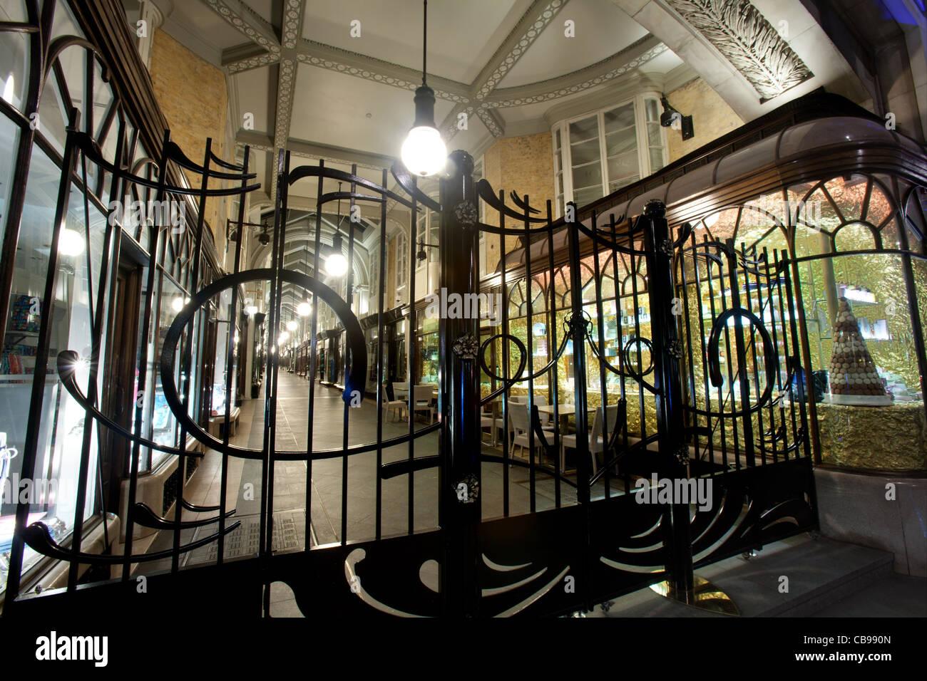 The Burlington Arcade, London, UK - Stock Image