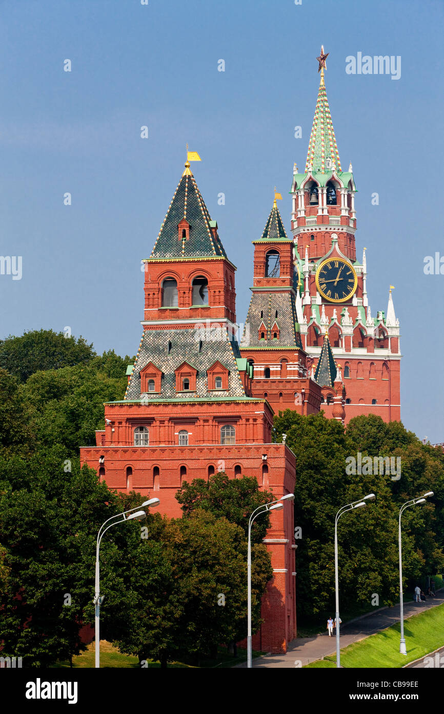 Spasskaya tower, Kremlin Moscow, Russian Federation - Stock Image
