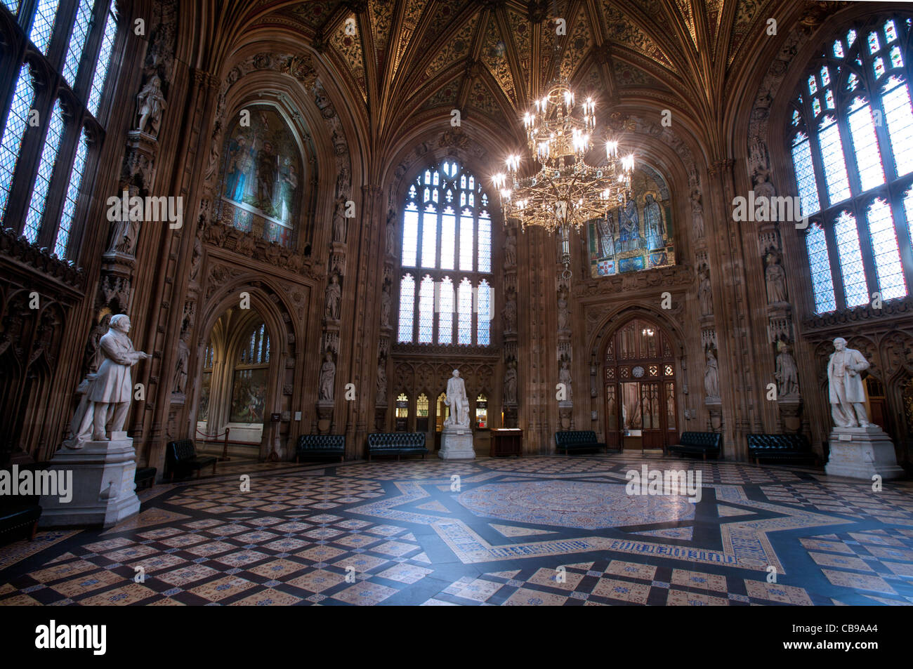 House of Lords & House of Commons Lobby, The Parliament, London, UK