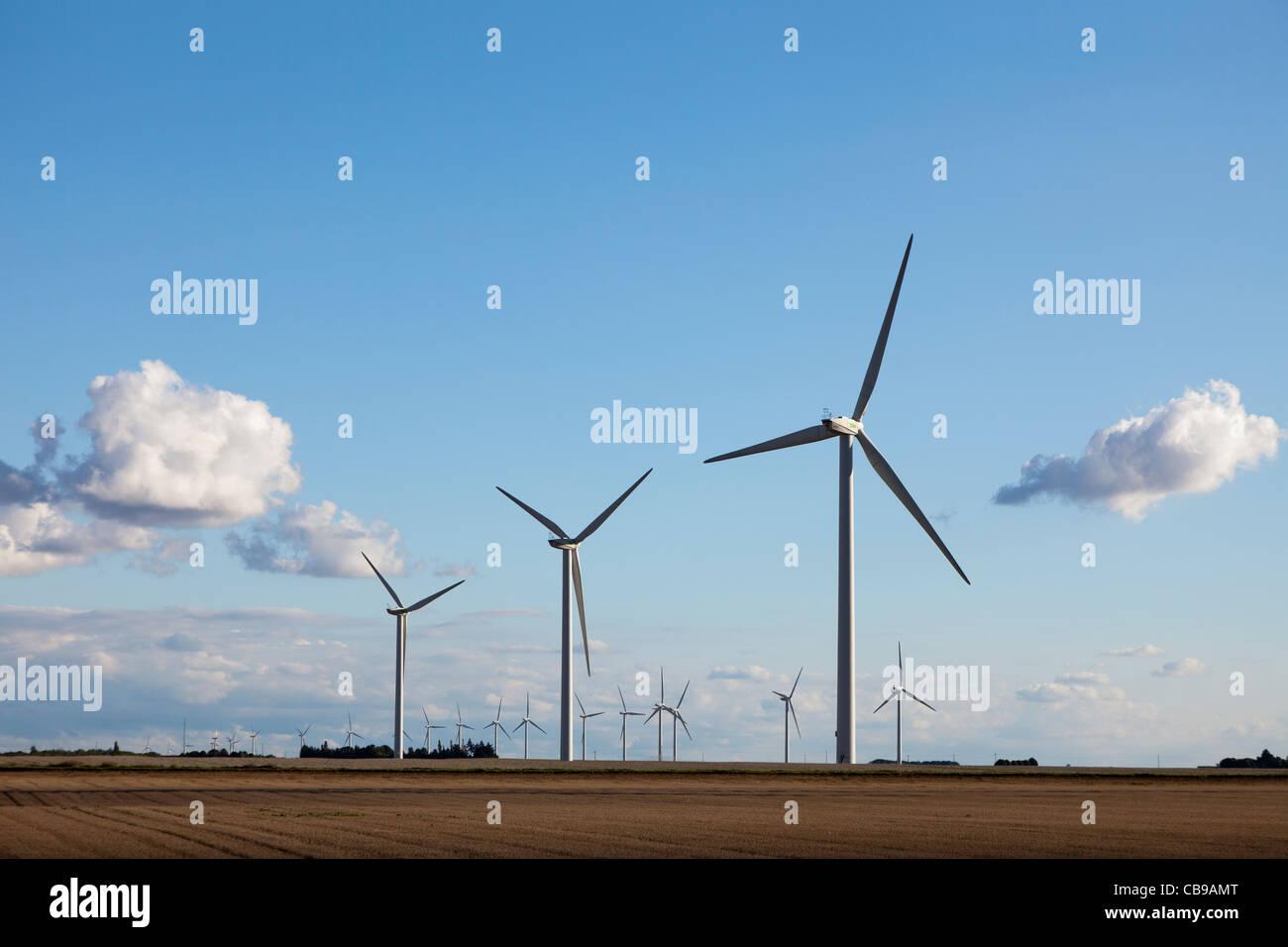 Wind turbines Eure-et-Loir France - Stock Image