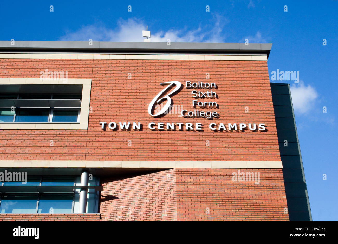 Bolton Sixth Form College, Deane Road, Bolton, Greater Manchester, England, UK - Stock Image
