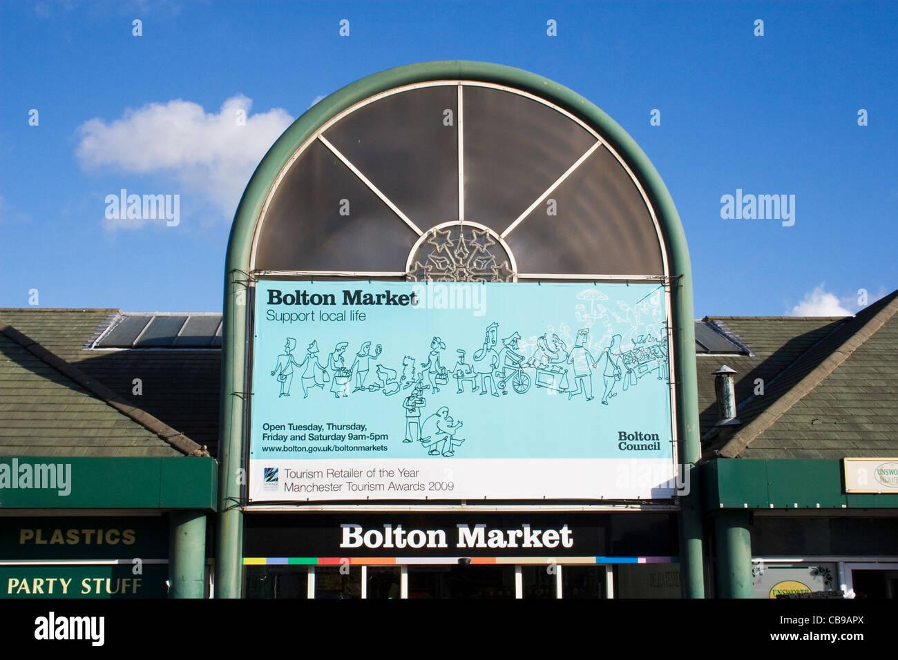 Bolton Market, Bolton, Greater Manchester, England, UK - Stock Image