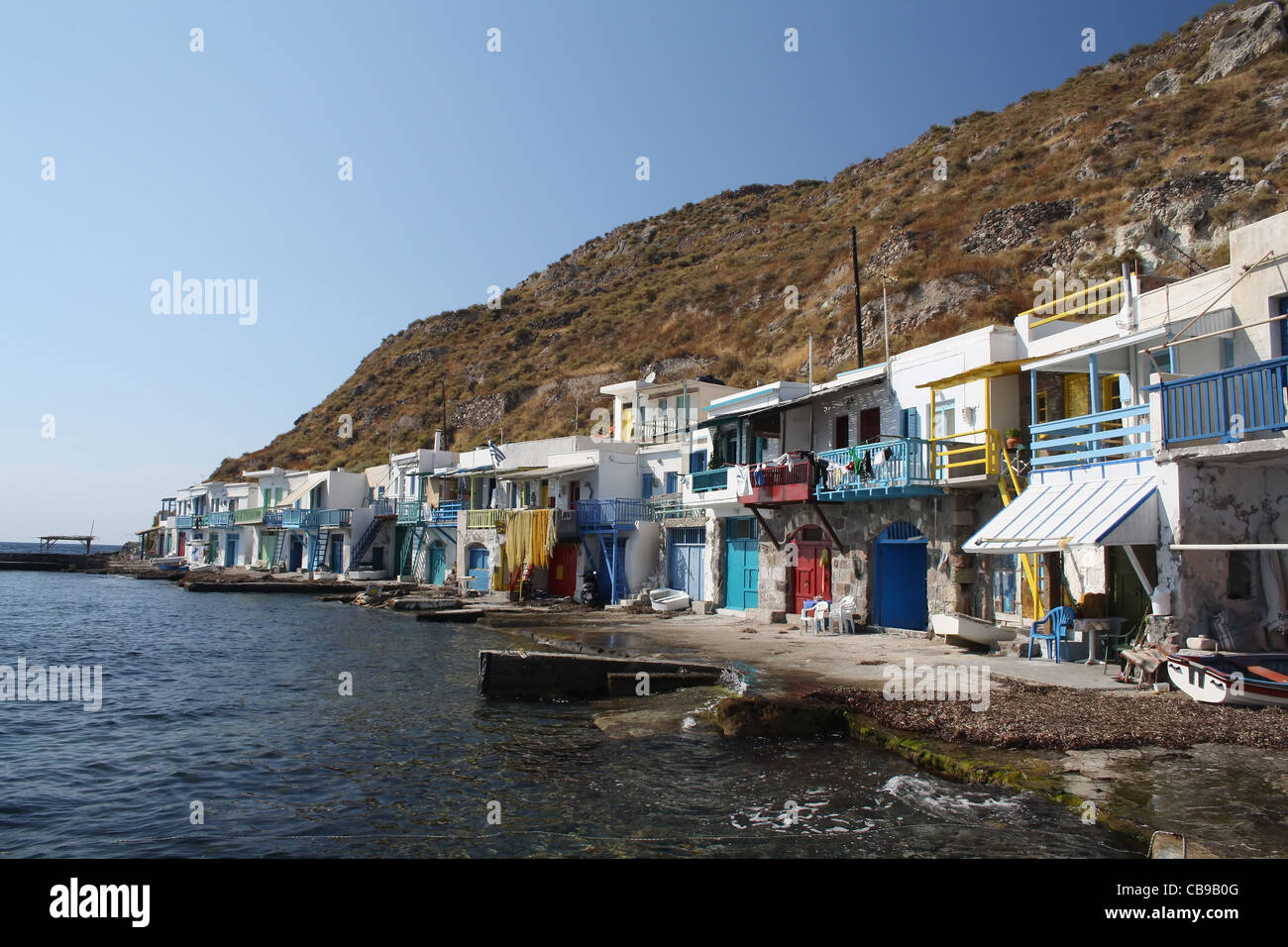 Little harbor of Klima, Milos island, Greece - Stock Image
