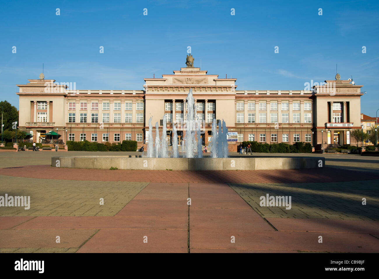 Culture House in Ostrov, Social realism architecture - Stock Image