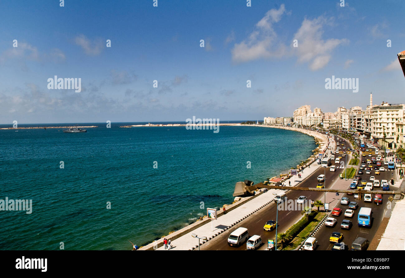 The beautiful city of Alexandria, Egypt. - Stock Image