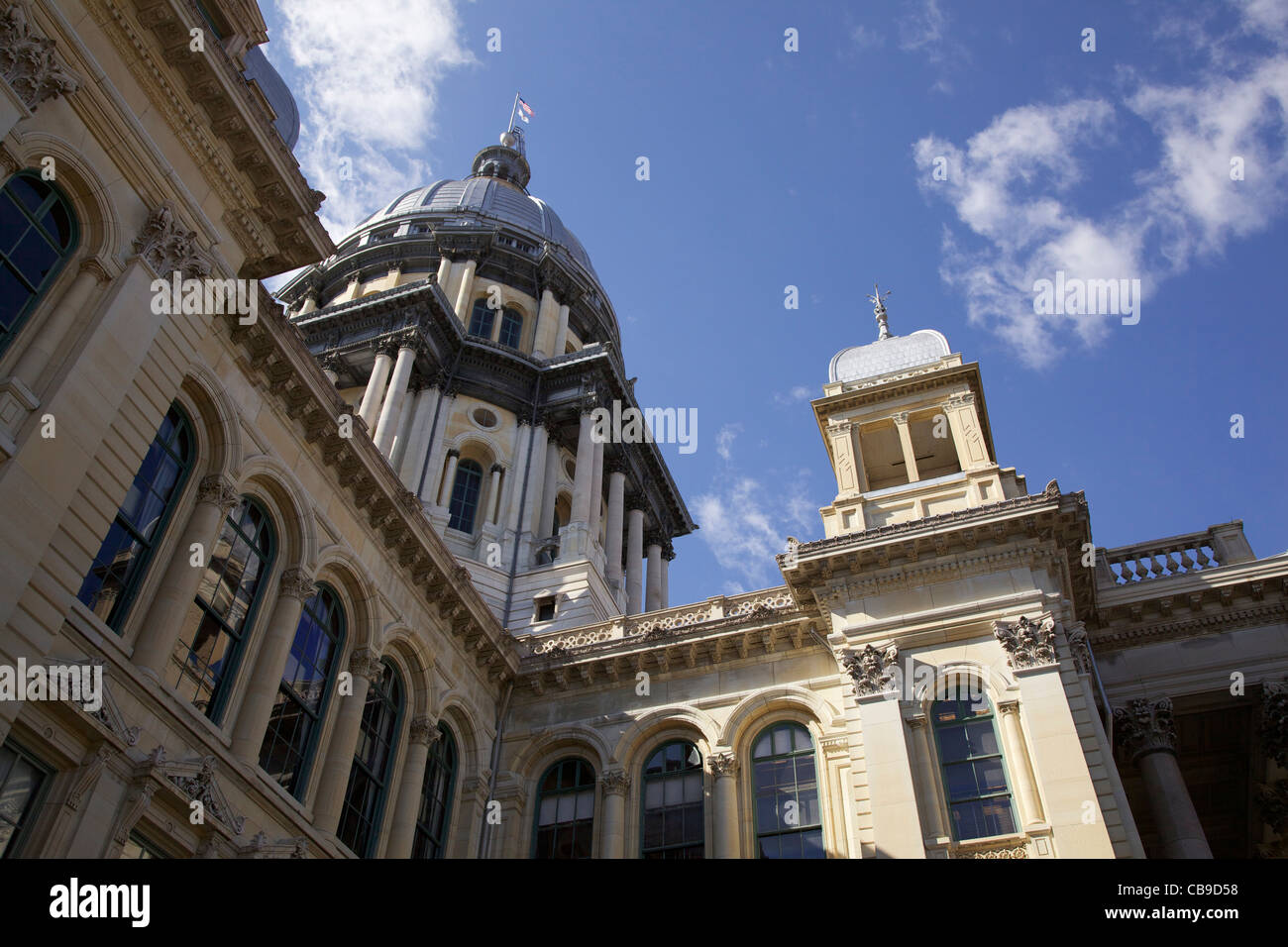 Illinois State Capitol Building. - Stock Image