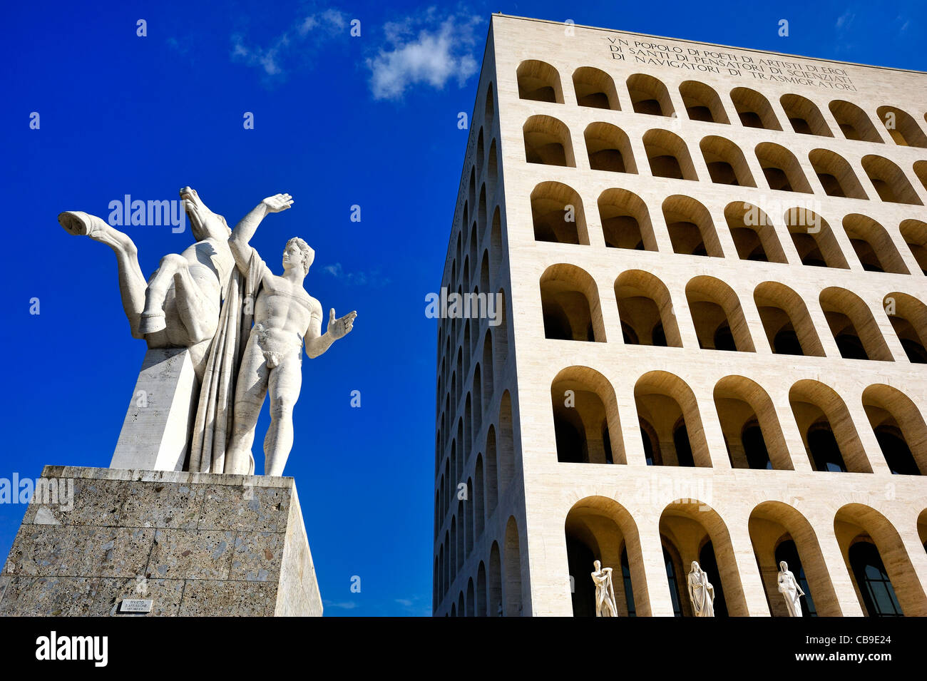 Labor ministry, EUR district, Rome, italy. - Stock Image