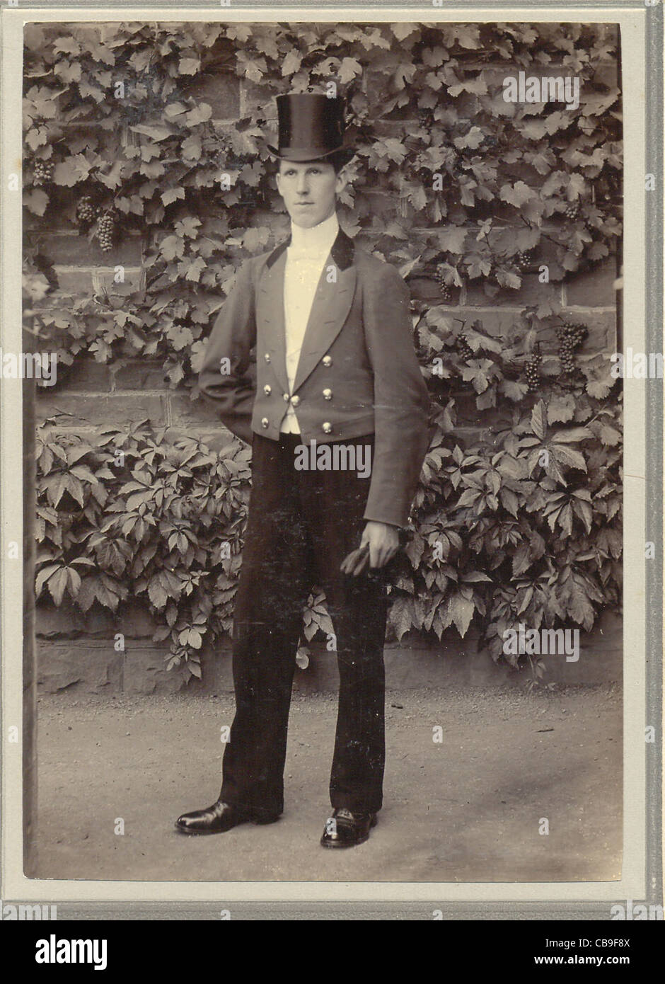 Cabinet photograph of footman Stock Photo