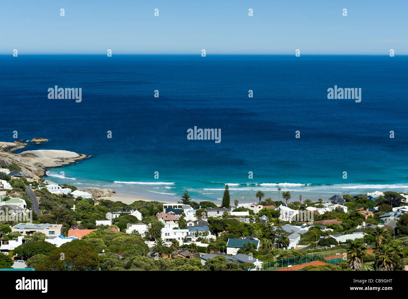 Llandudno bay and residential area south of Cape Town South Africa - Stock Image