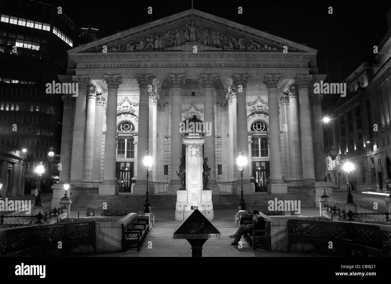 London - Exchange building - Stock Image