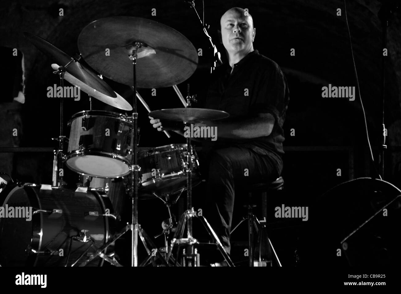 Roberto Gatto and his jazz band perform in Monte Compatri (Rome) Stock Photo
