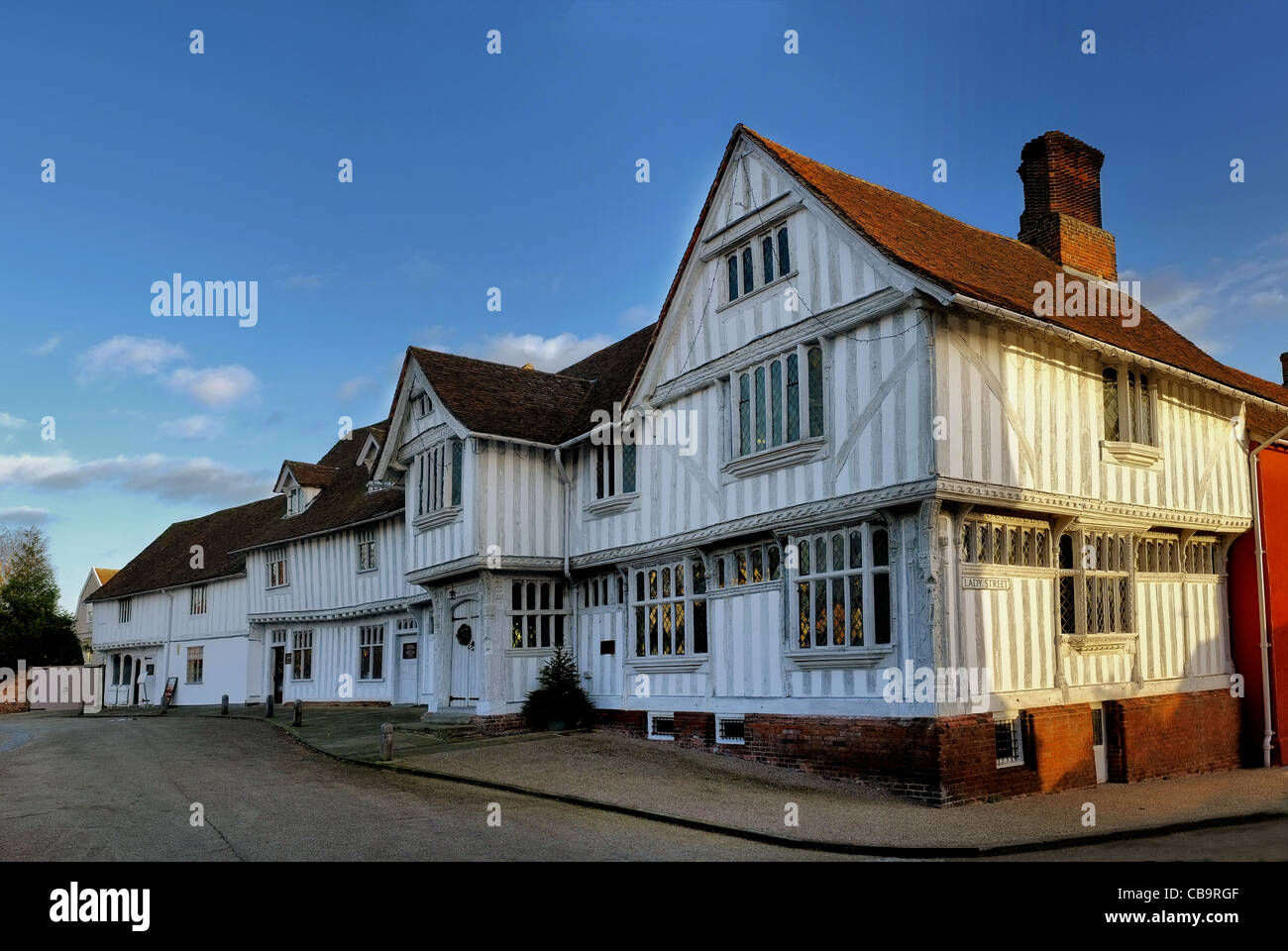 The Guildhall of the wool guild of Corpus Christi, Market Square, Lavenham, Suffolk. - Stock Image