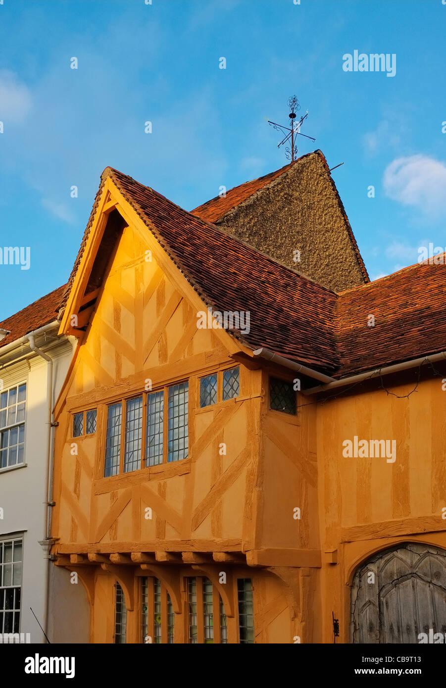 Medieval Houses, Lavenham, Suffolk. - Stock Image