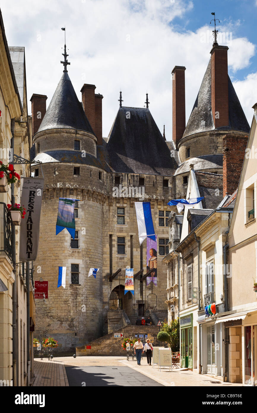 Chateau de Langeais at Langeais, Loire Valley, France - Stock Image