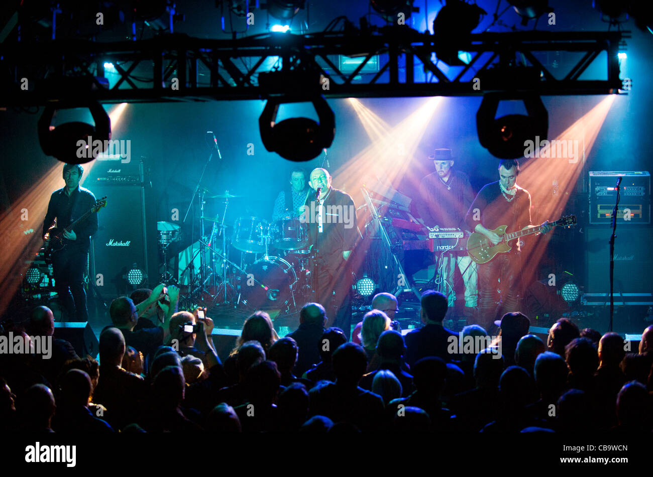 Reunited rock band, Magazine, fronted by singer Howard Devoto at Birmingham HMV Institute, 8th November 2011 - Stock Image