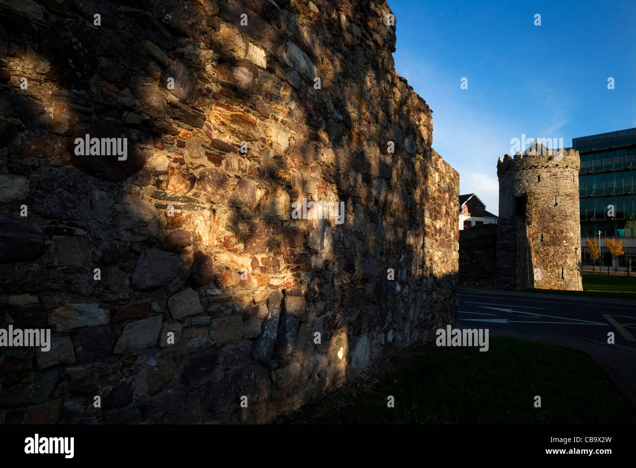 The Watch Tower, Part of the 13th Century Town Walls, Waterford City, Ireland - Stock Image