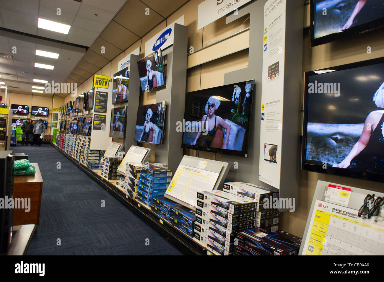 Flat Screen Televisions Are Seen On Sale In A Best Buy In New York