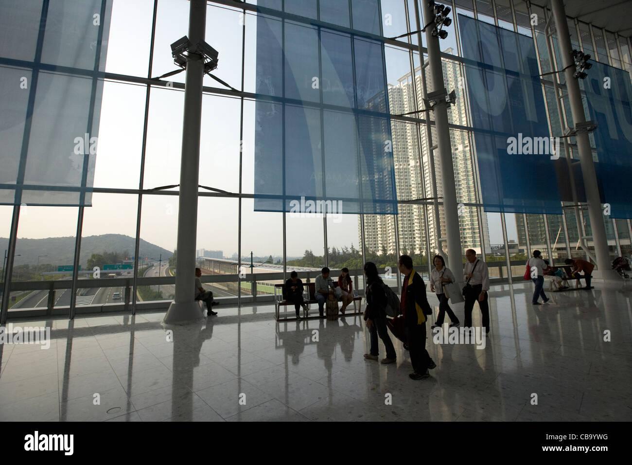 citygate outlets shopping mall in tung chung hong kong hksar china - Stock Image