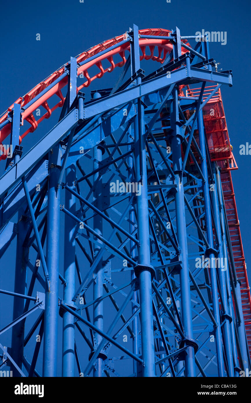 Blackpool Roller coaster - Stock Image