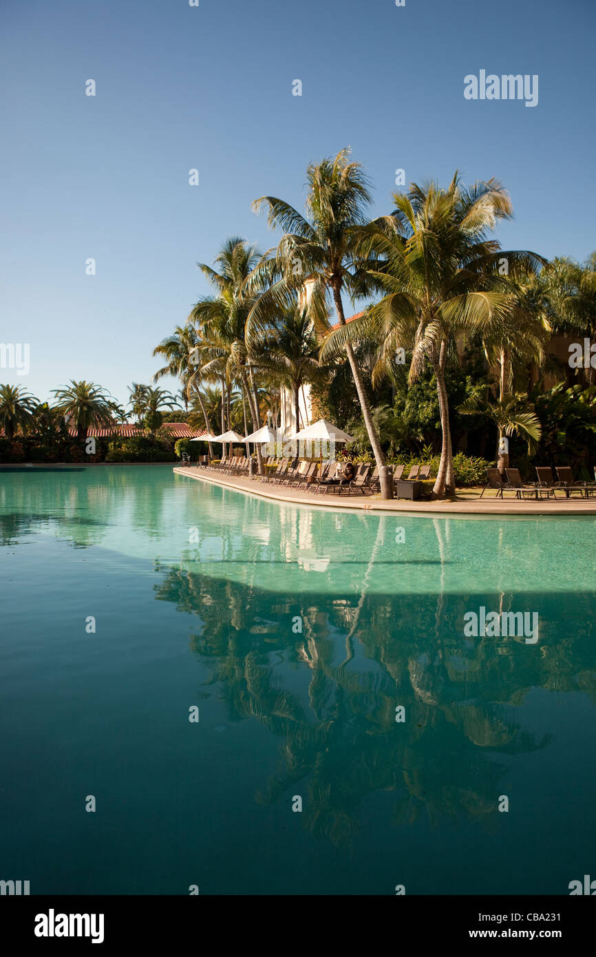 Pool view at the Biltmore Hotel in Miami Stock Photo