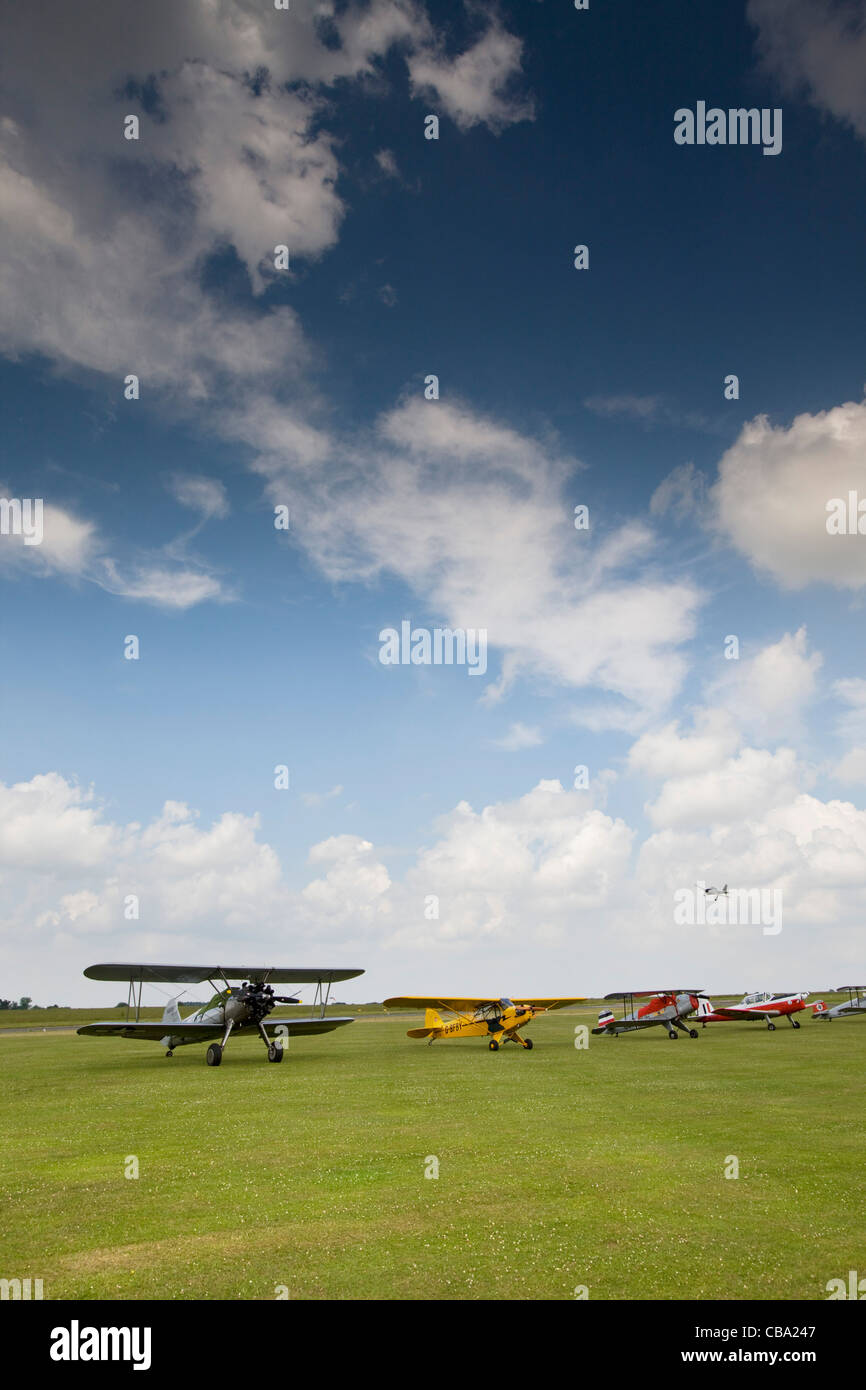 Bi-planes at Airshow - Stock Image