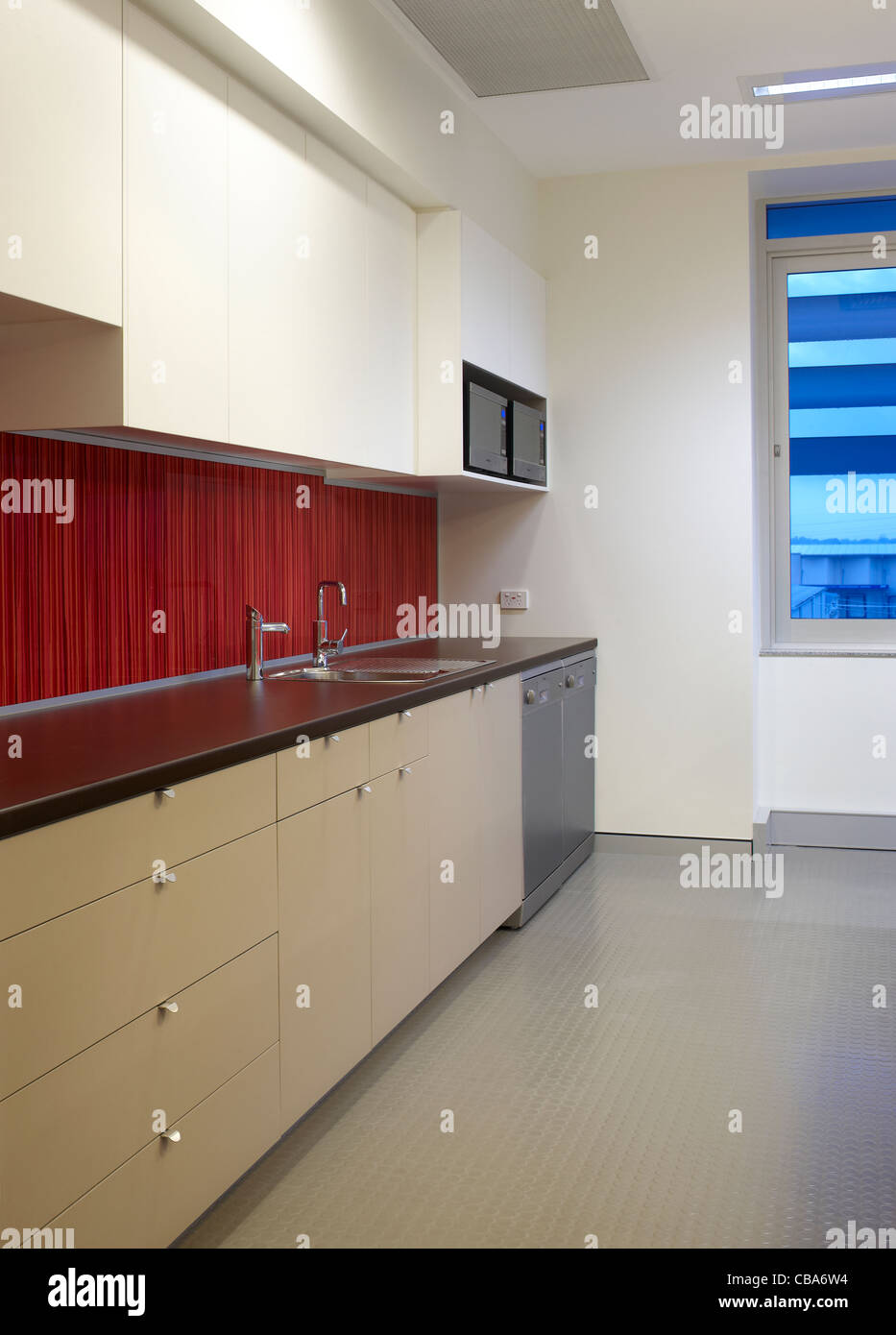 Modern commercial kitchen - Stock Image