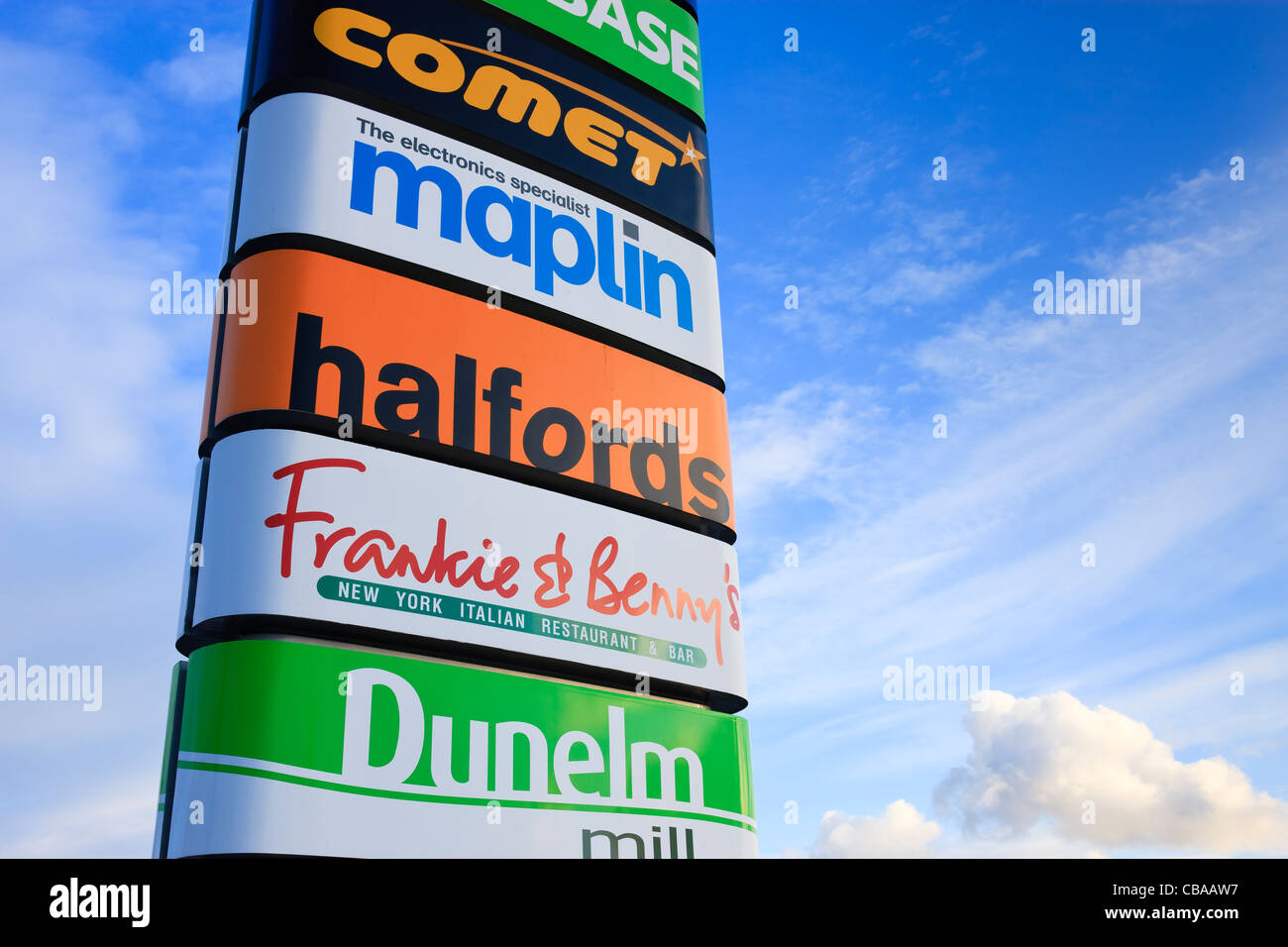Pemberton Retail Park Llanelli Carmarthenshire Wales - Stock Image