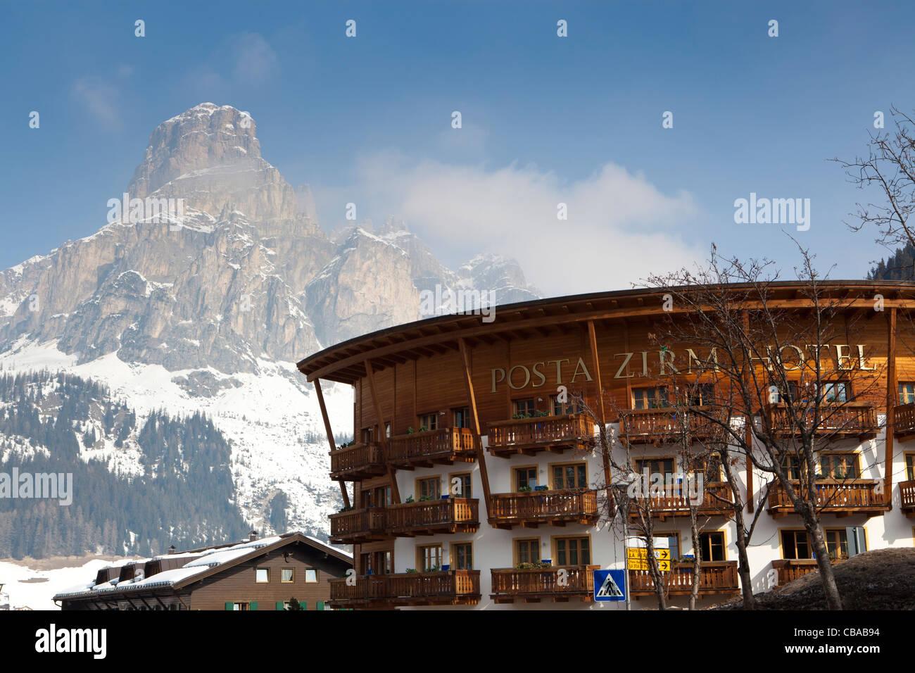Posta Zirm Hotel in Corvara, Alta Badia, Alto Adige, Italy - Stock Image