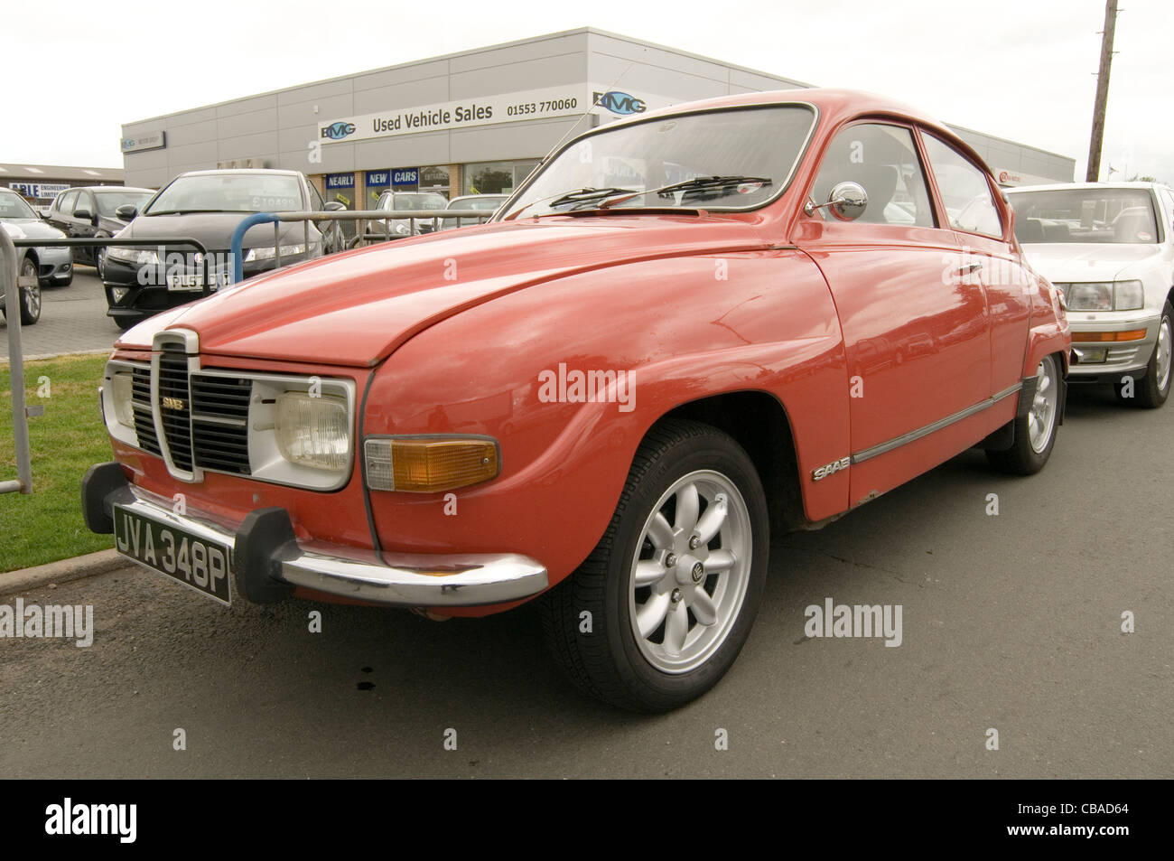saab 96 classic swedish car cars sweden - Stock Image