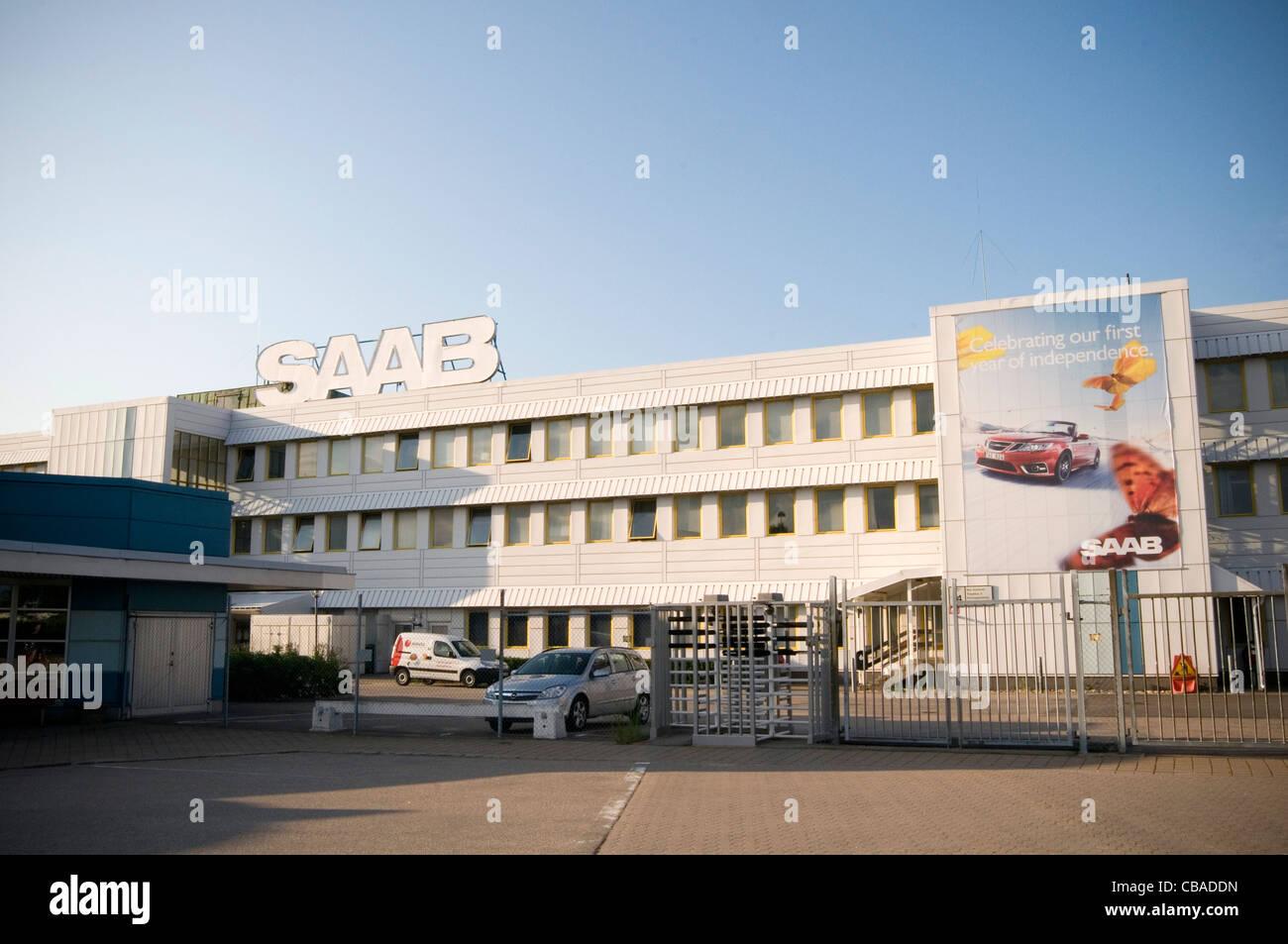 saab car factory trollhattan sweden - Stock Image